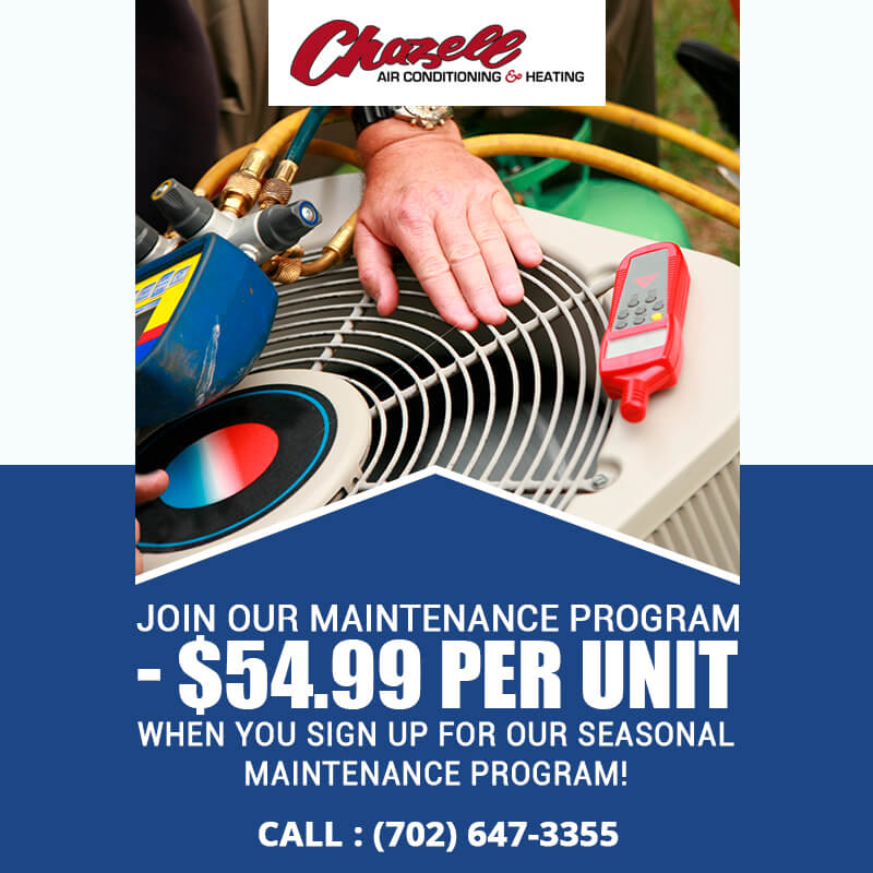 Join Our Maintenance Program - $54.99 Per Unit When You Sign Up For Our Seasonal Maintenance Program!